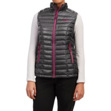 Mountain Hardwear Ghost Whisperer Q.Shield® Down Vest - 800 Fill Power (For Women) in Graphite/Bright Rose - Closeouts