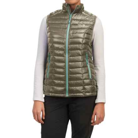 Mountain Hardwear Ghost Whisperer Q.Shield® Down Vest - 800 Fill Power (For Women) in Stone Green - Closeouts