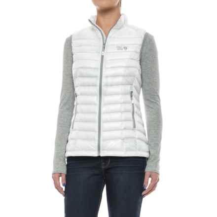 Mountain Hardwear Ghost Whisperer Q.Shield® Down Vest - 800 Fill Power (For Women) in White - Closeouts