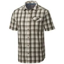 Mountain Hardwear Gilmore Shirt - Button Front, Short Sleeve (For Men) in Stone Green - Closeouts