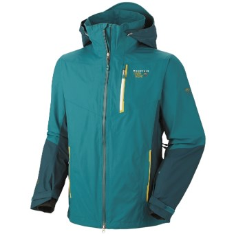 Mountain Hardwear Girdwood Dry.Q Elite Jacket - Waterproof (For Men) in Sea Level/Deep Water