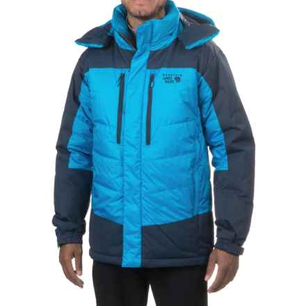 Mountain Hardwear Glacier Guide Down Hooded Parka - 650 Fill Power (For Men) in Dark Compass/Hardwear Navy - Closeouts