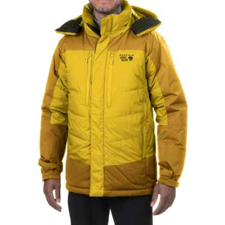 Mountain Hardwear Glacier Guide Down Hooded Parka - 650 Fill Power (For Men) in Electron Yellow/Inca Gold - Closeouts