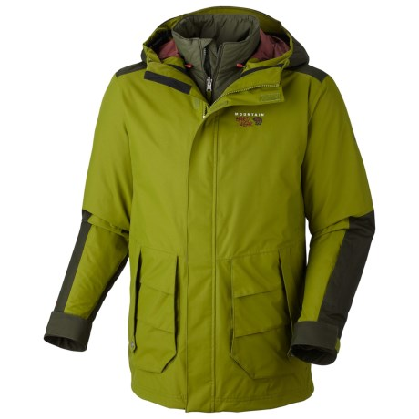 Mountain Hardwear Gondie Trifecta Dry.Q Core Jacket - Waterproof, Insulated, 3-in-1 (For Men) in Elm