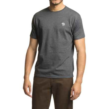 Mountain Hardwear Graphic MHW Logo T-Shirt - Short Sleeve (For Men) in Heather Black/Grey - Closeouts