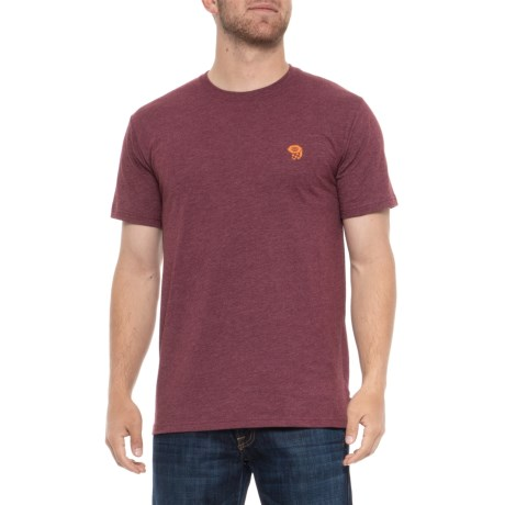 Mountain Hardwear Graphic MHW Logo T-Shirt - Short Sleeve (For Men) in Heather Cote Du Rhone