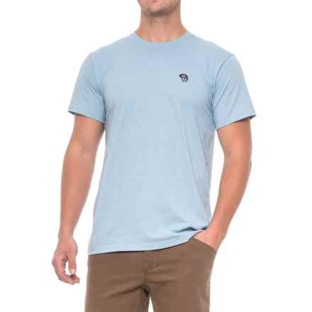 Mountain Hardwear Graphic MHW Logo T-Shirt - Short Sleeve (For Men) in Heather Grey Goose - Closeouts