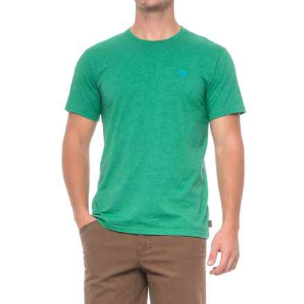 Mountain Hardwear Graphic MHW Logo T-Shirt - Short Sleeve (For Men) in Heather Plastic Fern - Closeouts