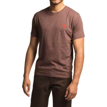 Mountain Hardwear Graphic MHW Logo T-Shirt - Short Sleeve (For Men) in Heather Redwood - Closeouts