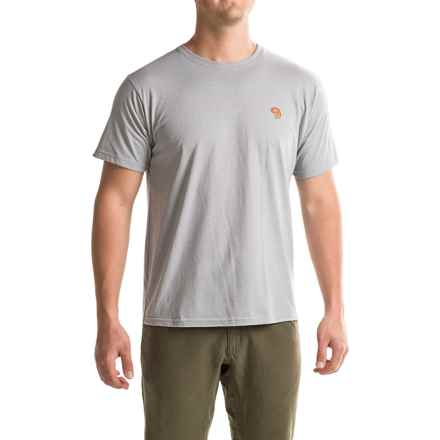 Mountain Hardwear Graphic MHW Logo T-Shirt - Short Sleeve (For Men) in Heather Steam - Closeouts