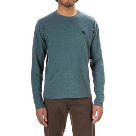 Mountain Hardwear Graphic T-Shirt - Crew Neck, Long Sleeve (For Men) in Heather Cloudburst - Closeouts