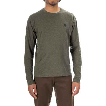 Mountain Hardwear Graphic T-Shirt - Crew Neck, Long Sleeve (For Men) in Heather Peatmoss - Closeouts