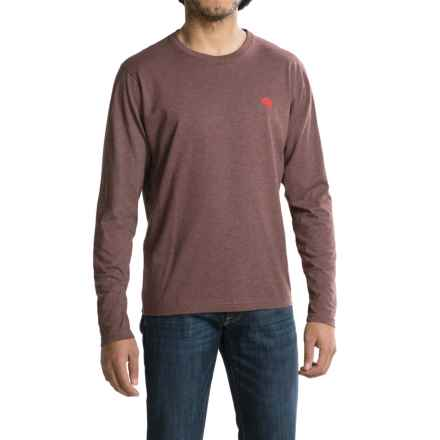 Mountain Hardwear Graphic T-Shirt - Crew Neck, Long Sleeve (For Men) in Heather Redwood - Closeouts