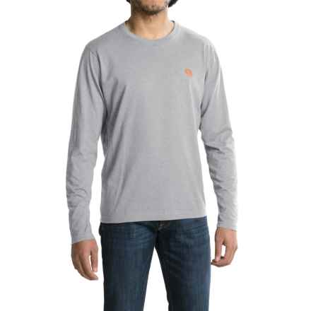 Mountain Hardwear Graphic T-Shirt - Crew Neck, Long Sleeve (For Men) in Heather Steam - Closeouts