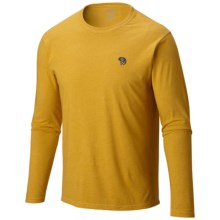 Mountain Hardwear Graphic T-Shirt - Long Sleeve (For Men) in Heather Inca Gold - Closeouts