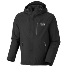 Mountain Hardwear Gravitor Dry.Q Elite Jacket - Waterpoof, Insulated (For Men) in Black - Closeouts
