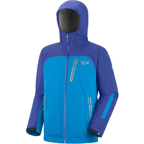 Mountain Hardwear Gravitor Dry.Q Elite Jacket - Waterproof, Insulated (For Men) in Blue Chip/Blue Horizon