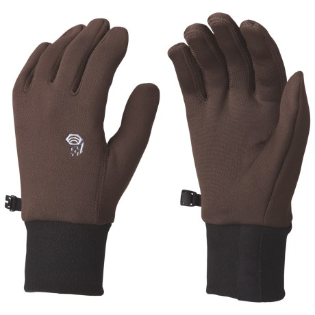 Mountain Hardwear Heavyweight Power Stretch Gloves - (For Men) in Bark