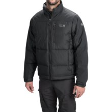 Mountain Hardwear Hunker Down Jacket 650 Fill Power For Men - Black/Blue Chip/Sapphire