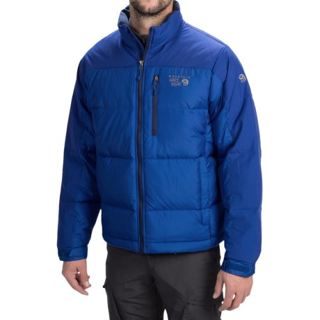 Mountain Hardwear 650 Fill Power Hunker Down Mens Jacket - Black/Blue