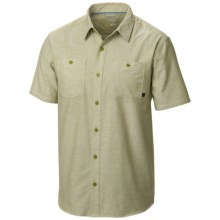 Mountain Hardwear Huxley Shirt - Short Sleeve (For Men) in Python Green - Closeouts