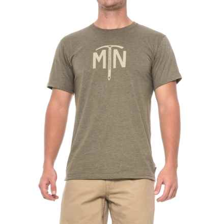 Mountain Hardwear Ice Axe T-Shirt - Short Sleeve (For Men) in Heather Stone Green - Closeouts