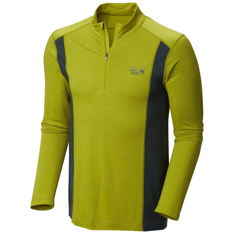 Mountain hardwear integral pro shirt merino wool zip for Merino wool shirt long sleeve