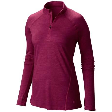 photo: Mountain Hardwear Women's Integral Pro Long Sleeve Zip T