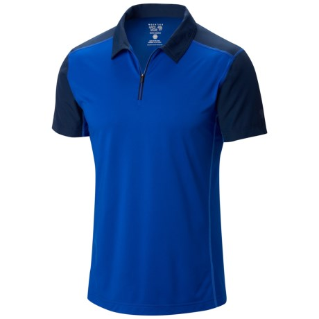 Mountain Hardwear Justo Trek Polo Shirt - UPF 50, Short Sleeve, Zip Neck (For Men) in Azul