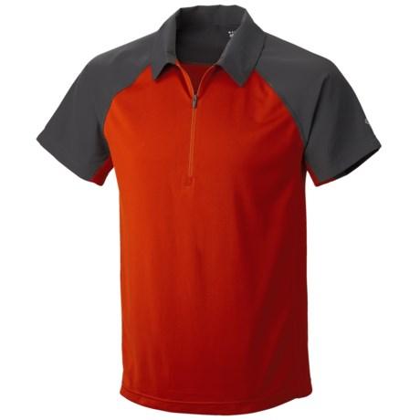 Mountain Hardwear Justo Trek Polo Shirt - UPF 50, Short Sleeve, Zip Neck (For Men) in Russet Orange