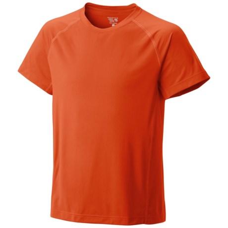 Mountain Hardwear Justo Trek T-Shirt - UPF 50, Short Sleeve (For Men) in Russet Orange