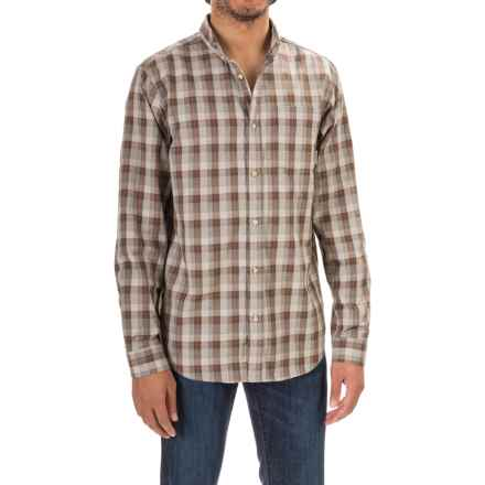 Mountain Hardwear Keller Plaid Shirt - Button Front Long Sleeve (For Men) in Fossil - Closeouts