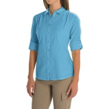 Mountain Hardwear Keralake Shirt - Button Front, Long Sleeve (For Women) in Atoll - Closeouts