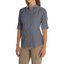 Mountain Hardwear Keralake Shirt - Button Front, Long Sleeve (For Women) in Collegiate Navy - Closeouts