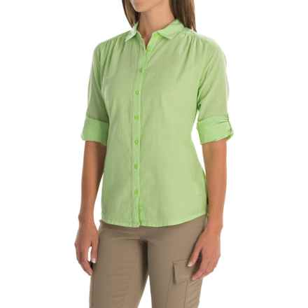 Mountain Hardwear Keralake Shirt - Button Front, Long Sleeve (For Women) in Tippet - Closeouts