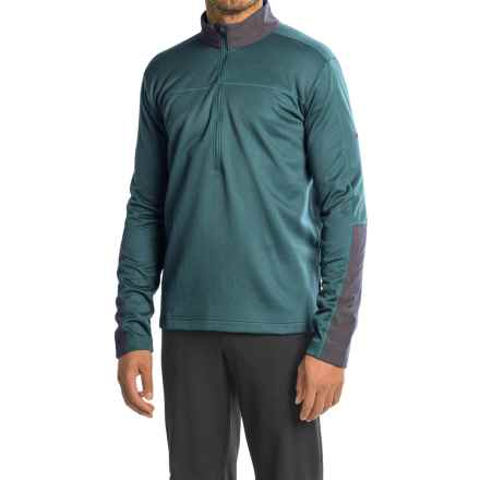 Mountain Hardwear Kiln Fleece Shirt - Zip Neck, Long Sleeve (For Men) in Cloudburst - Closeouts