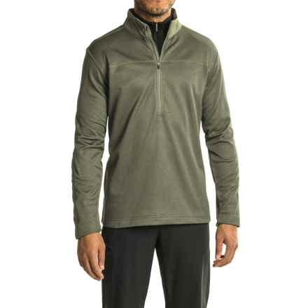 Mountain Hardwear Kiln Fleece Shirt - Zip Neck, Long Sleeve (For Men) in Stone Green - Closeouts