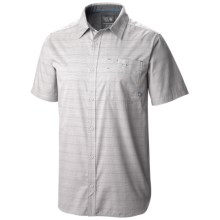 Mountain Hardwear Kotter Stripe Shirt - Button Front, Short Sleeve (For Men) in Grey Ice - Closeouts