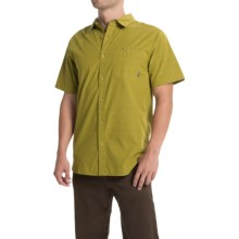 Mountain Hardwear Kotter Stripe Shirt - Button Front, Short Sleeve (For Men) in Python Green - Closeouts