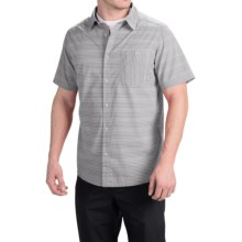 Mountain Hardwear Kotter Stripe Shirt - Short Sleeve (For Men) in Steam - Closeouts