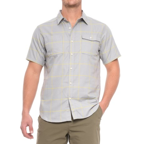 Mountain Hardwear Landis Shirt - Short Sleeve (For Men) in Grey Ice