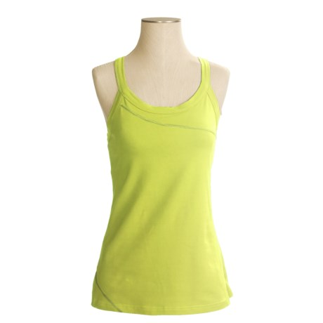 Mountain Hardwear Loess Tank Top - Organic Cotton, Crossover Straps (For Women) in Kiwi
