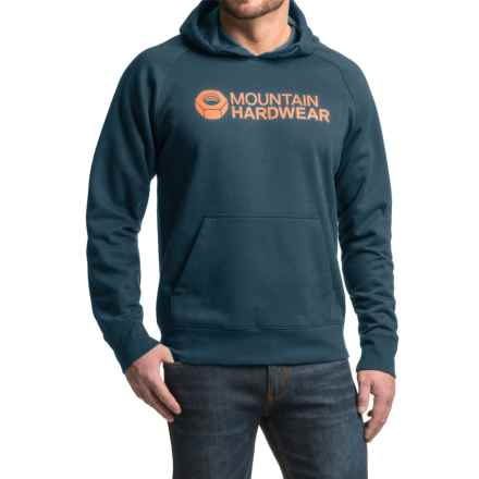 Mountain Hardwear Logo Graphic Hoodie (For Men) in Hardwear Navy/Dark Copper - Closeouts