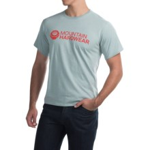 Mountain Hardwear Logo Graphic T-Shirt - Short Sleeve (For Men) in Heather Ice Shadow - Closeouts