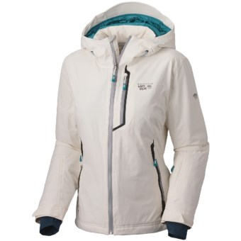 Mountain Hardwear Luma Dry.Q Elite Jacket - Waterproof, Insulated (For Women) in Sea Salt