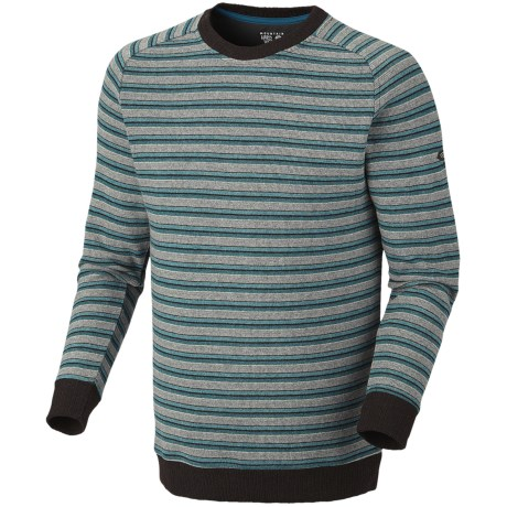 Mountain Hardwear Mantega Stripe Sweater - Recycled Wool (For Men) in Deep Water