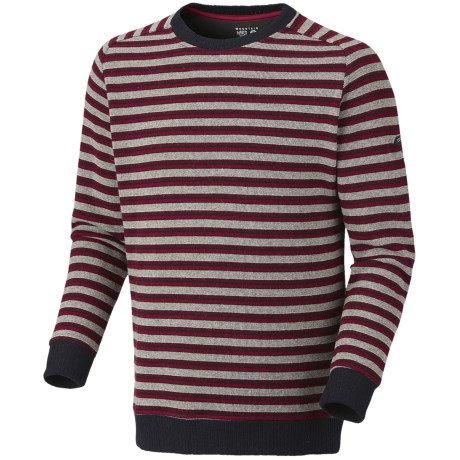 Mountain Hardwear Mantega Stripe Sweater - Recycled Wool (For Men) in Jester Red