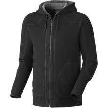 Mountain Hardwear Mazeno Peak Hoodie Sweatshirt - Recycled Wool (For Men) in Black - Closeouts