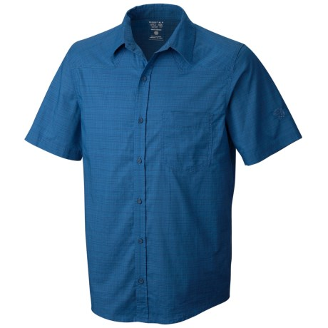 Mountain Hardwear McLane Shirt - Organic Cotton, Short Sleeve (For Men) in Impulse Blue