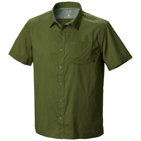 Mountain Hardwear McLane Shirt - Organic Cotton, Short Sleeve (For Men) in Pesto